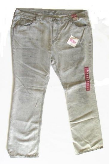 OLD NAVY Womens Plus Gray Distressed Jeans 20 NEW