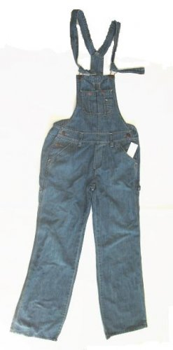 OLD NAVY Womens Stripe Denim Overalls Jeans Bibs XS 0 2 NEW