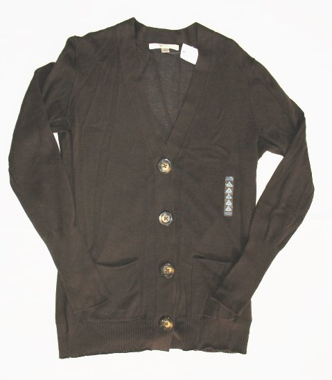 OLD NAVY Womens Brown Button Cardigan Sweater L 12 14 NEW