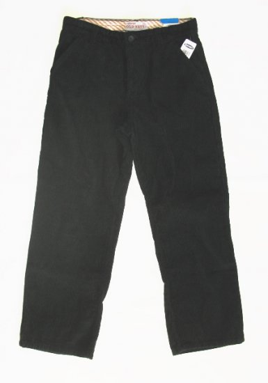 OLD NAVY Boys Black Corduroy Pants 14 Husky NEW
