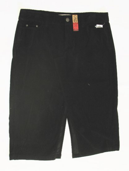 OLD NAVY Womens Plus Black Corduroy Long Skirt 22 NEW