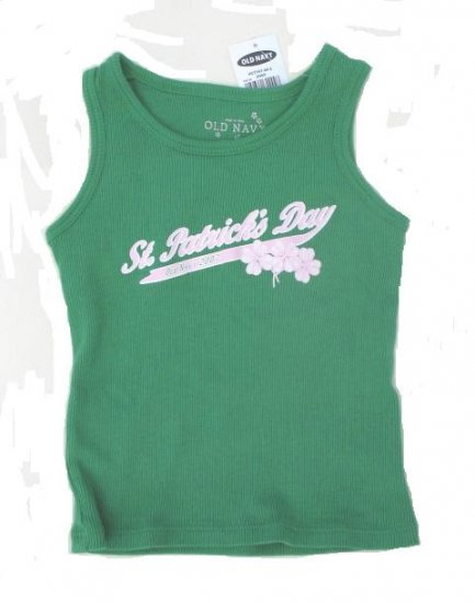 OLD NAVY Girls Green St. Patrick Tank Top 2T NEW