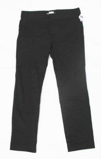 OLD NAVY Womens Black Twill Stretch Pants 10 NEW