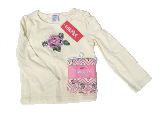 GYMBOREE La Belle Epoque Girls Leggings Shirt Top Set Outfit 3 3T NEW