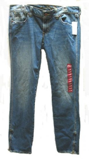 OLD NAVY Womens Special Edition Zip Skinny Jeans 12 Short NEW
