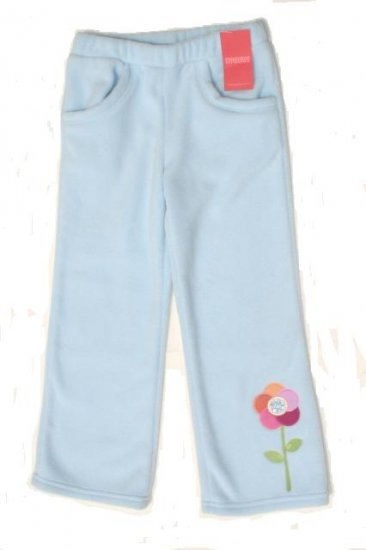 GYMBOREE Snow Blossom Girls Blue Fleece Pants 7 NEW