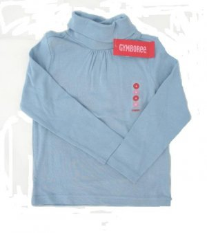 GYMBOREE La Belle Epoque Girls Blue Turtle Neck Shirt Top 8 NEW