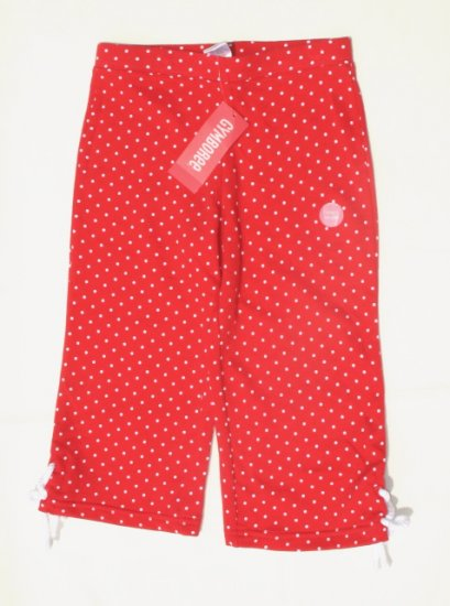 GYMBOREE Wish You Were Here Girls Red Dot Capri Pants 6 NEW