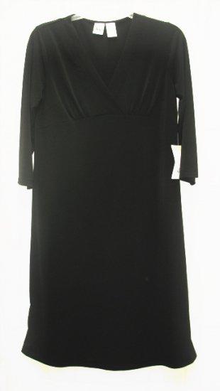 DUO Maternity Black Wrap Bodice Dress M Medium NEW