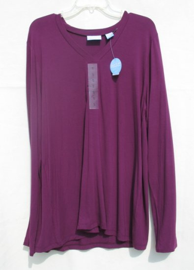 SOON TO BE Maternity Purple LS Shirt XL 18 NEW