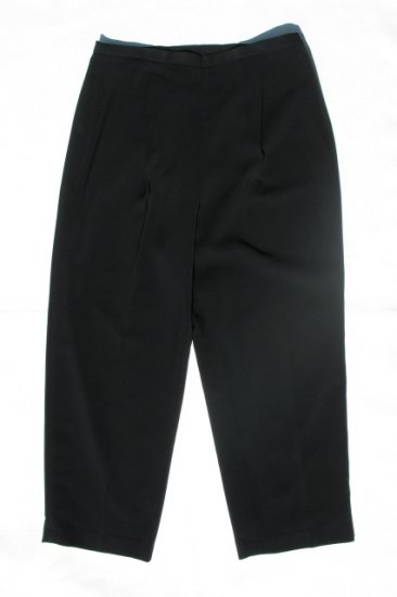 LE SUIT Womens Plus Black Pleated Dress Pants 18W NWT NEW