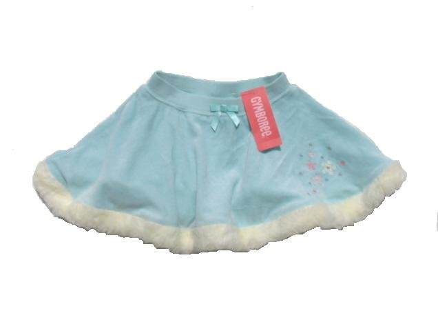 GYMBOREE Princess Snow Drop Girls Aqua Velour Skating Skirt 2T NWT NEW