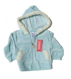 GYMBOREE Princess Snow Drop Girls Aqua Velour Hoodie Jacket 12 18 Mo NWT NEW