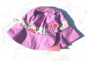 GYMBOREE Tea Garden Girls Reversible Purple Hat 2T 3T 4T 5T NWT NEW