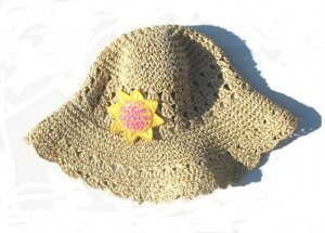 GYMBOREE Sunflower Fields Girls Straw Hat 5 6 7 NWT NEW