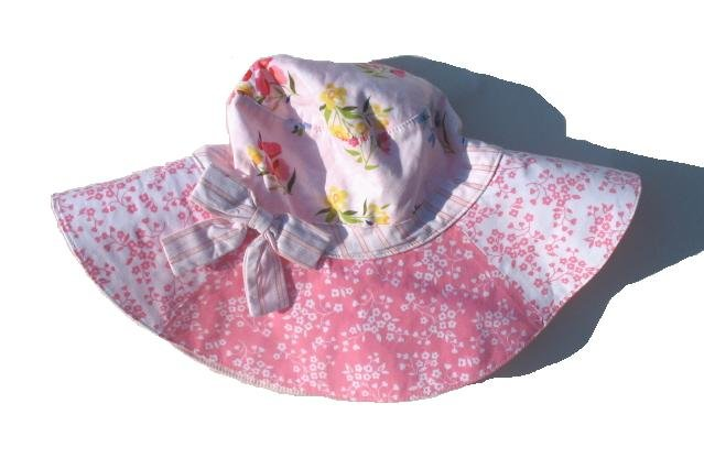 GYMBOREE Love In Air Girls Reversible Floral Wide Brim Hat 3T 4T NWT NEW