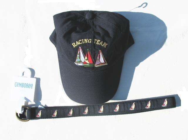 GYMBOREE Sailing Club Boys 2pc Hat Cap Belt 5 6 7 NWT NEW