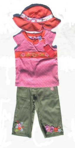 GYMBOREE Tea Garden Girls 3pc Crop Pants Top Hat 5 NWT NEW