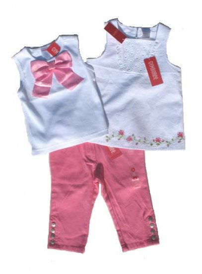 GYMBOREE Parisian Rose Girls 3pc Capri Top Set 4 4T NWT NEW