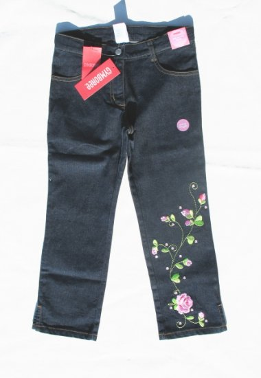 GYMBOREE Parisian Rose Girls Rose Jeans 7 NWT NEW