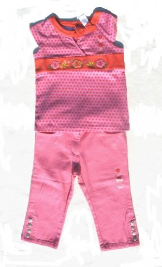 GYMBOREE Tea Garden Girls Capri Pants Top Set 6 NWT NEW