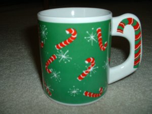 Candy Cane Holiday Mug