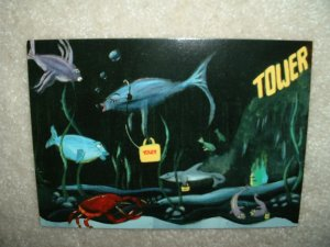 Tower Records Fishy Rack Postcard