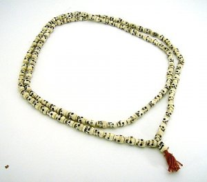 Carved Sull Bone Mala 108 Beads