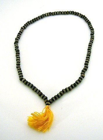 Carved Wood Prayer Mala 108 beads