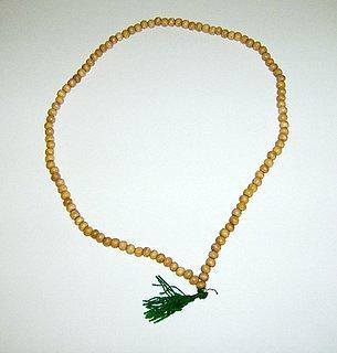 Wood Prayer Mala  108 7mm Beads