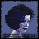 BLACK Bridal Blusher Birdcage Blusher Veil Hair Comb Wedding