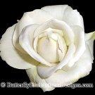 Ivory Rose Bridal Hair Flower Clip Wedding