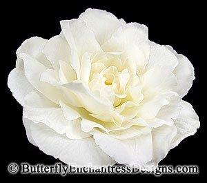 Ivory Peony Rose Bridal Hair Flower Clip Wedding