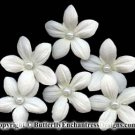 6 Creamy White Stephanotis Flower Bridal Hair Pins Wedding