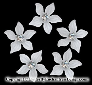5 Swarovski Crystal Rhinestone Zara Flower Bridal Hair Pins Wedding