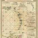West Indies Eastern Caribbean map 1784