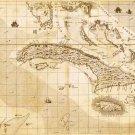Cuba Cuban Caribbean map 1733