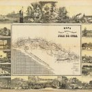 Cuba Cuban Caribbean map 1853
