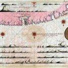 Matanzas Bay Cuba Cuban Caribbean map 1710 by Gerard van Keulen