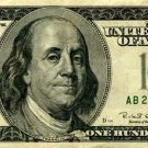 US One Hundred Dollar $100 US Bank Note Banknote Photo Photograph