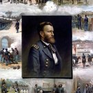 General Ulysses Grant from West Point to Appomattox 1865 Civil War art print by Louis Prang