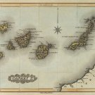 Canary Islands map 1823 by Lucas