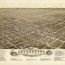 Greensboro North Carolina map 1891
