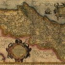 Portugal Map 1579 by Abraham Ortelius
