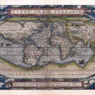 World Map 1571 by Abraham Ortelius