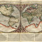 World Map 1595 by Mercator