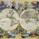 World map 1683 by Johannes De Ram