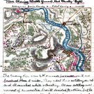 Battle Ground Cavalry Fight 1863 Kelly's Ford VA Civil War map by Sneden