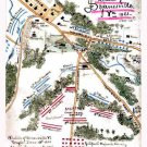 Dranesville Battle Virginia 1861 Civil War map by Sneden