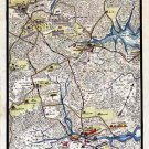March from Hampton to Yorktown Virginia 1862 Civil War map by Sneden